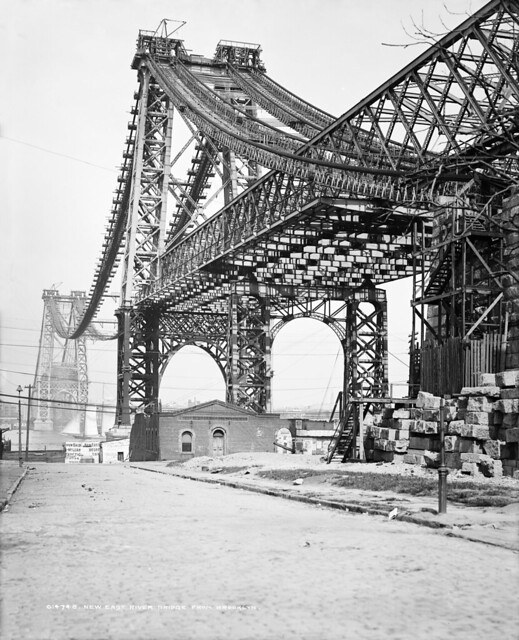 New East River bridge from Brooklyn, New York, ca. 1902