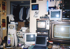 1998ish - Clint's room - screens & clutter - 1