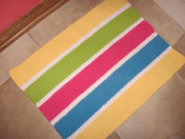 crocheted bathmat
