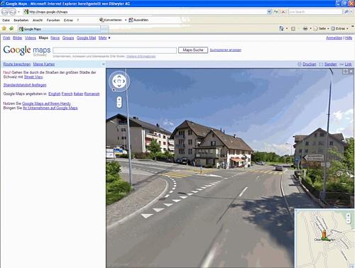 19.08.2009 - Google Maps und Google StreetView: Von Zürich bis Oberlunkhofen (2/2)