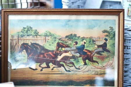 vintage horse race print