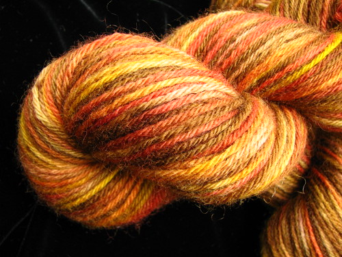 Autumn Leaves on Peruvian Worsted