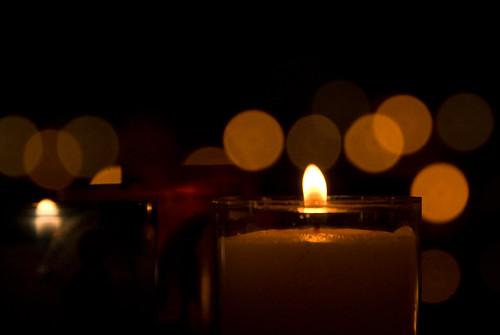 bokeh candles