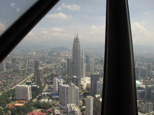 Petronas Towers as seen from Menara Tower