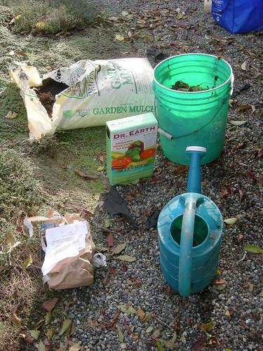 Peony planting supplies