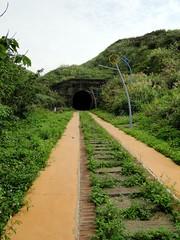 舊鐵道的隧道,外面蝴蝶很多