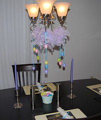 Table set for Easter