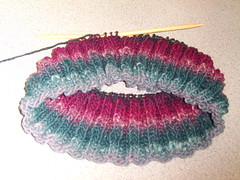 point and shoot photo of neckwarmer with noro2