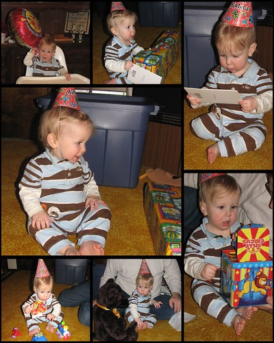 James' 1st Birthday Presents Collage