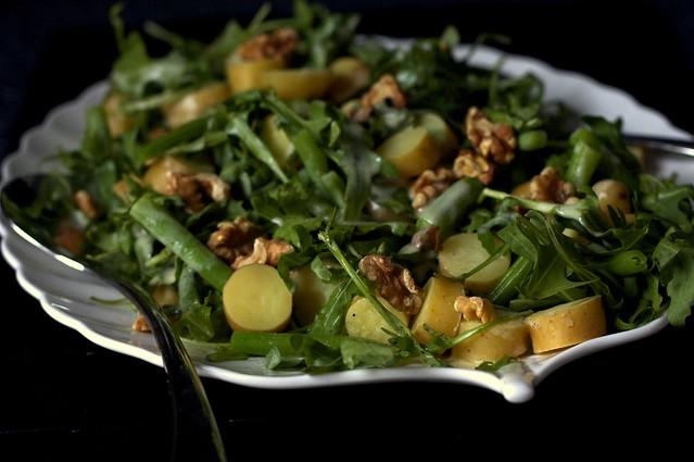 arugula, potato and green bean salad