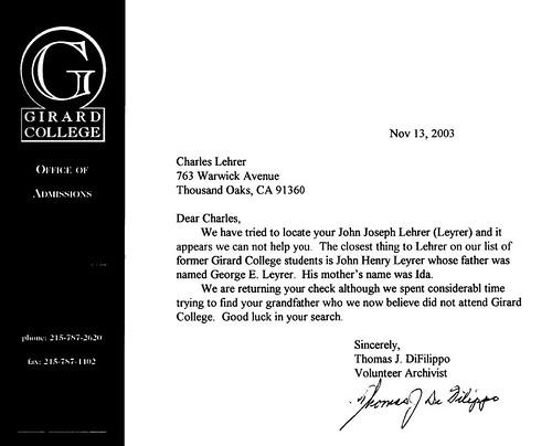 Girard Letter