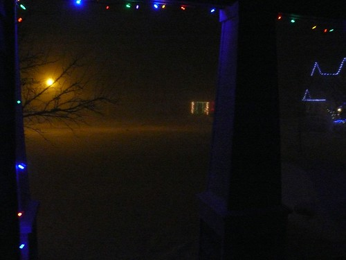 View from our front door, before the power went out.