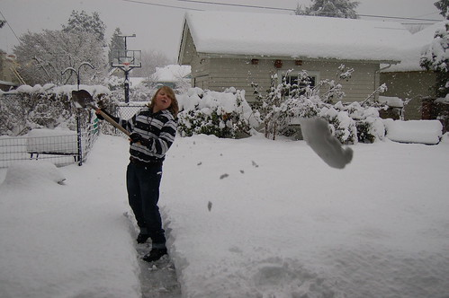 Who knew shoveling could be so fun?