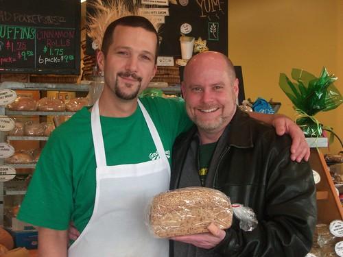 Me, Sam and my high fiber bread