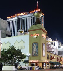 Hard Rock Café and Trump Taj Mahal Casino