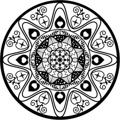 mandala 3 vector Drawn - RuthArt