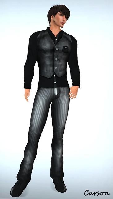 _b[ELLE] - Vest Suit - Grey (2)