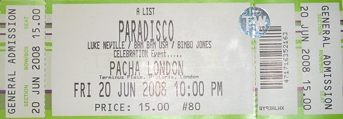 Paradisco, Pacha London 20th June 2008