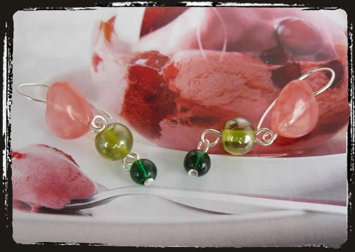 Orecchini rosa e verde - Pink green earrings AMHHCVV