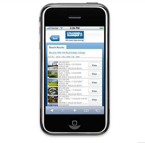 coldwellbanker.com iPhone - Listing Results by coldwellbanker.