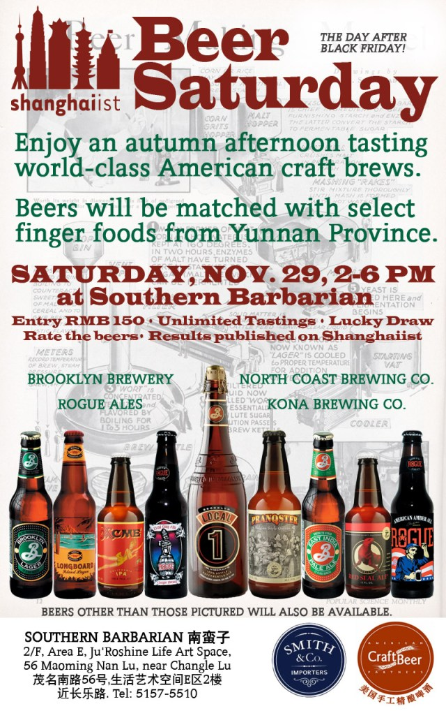 Shanghaiist's Beer Saturday: Craft Brew Tasting at Southern Barbarian