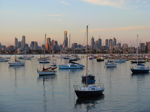 Beautiful Melbourne Skyline from St Kilda