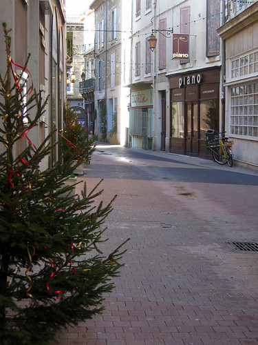 Christmas trees on the streets of Valence.