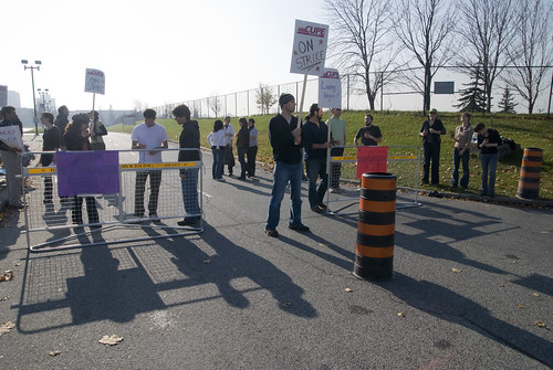 Northwest Gate Picket Line