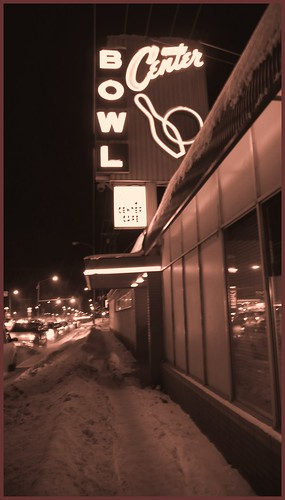 Classic bowling alley sign, Anchorage.