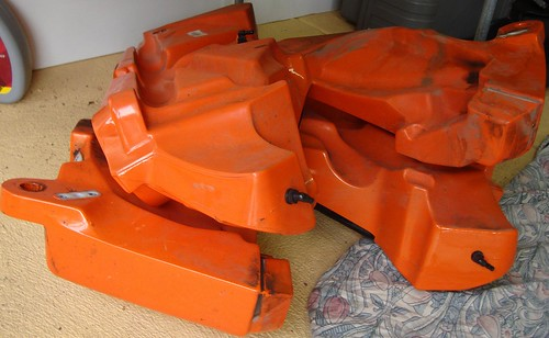 old orange tanks