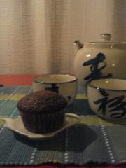 chocolat cupcakes postcard