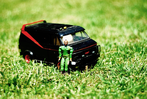 I still have my original A-Team van complete with BA Baracus action figure... he is now more flexible than me.