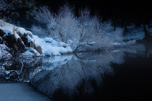 Hoarfrost on the Merced River, Yosemite by MumbleyJoe