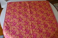 Back of finished quilt