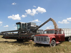 our combine and truck