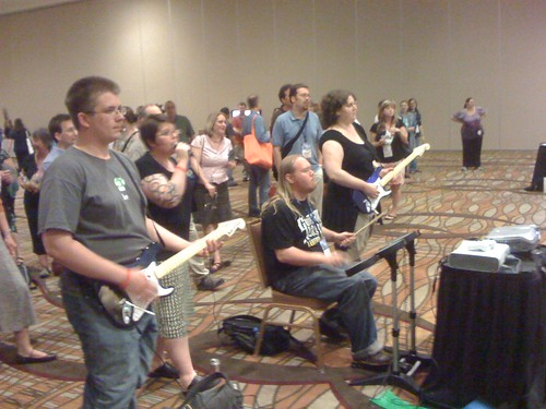 Librarians playing rock band