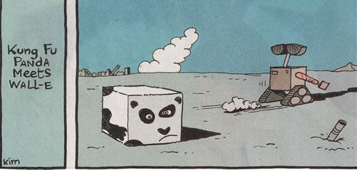 Kung fu panda meets wall-e
