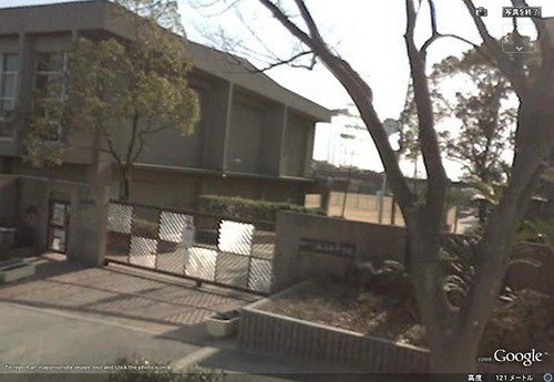 Nishiochiai Middle School (the Main Gate)