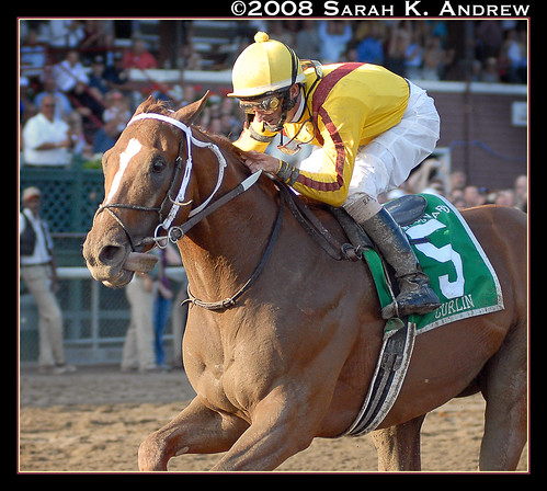 Curlin and Robby Albarado win the 55th Woodward Stakes