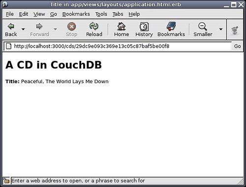 Rails using CouchDB!