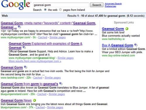 Geansai Gorm 17th Nov