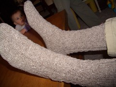 Cable twist socks for Dad