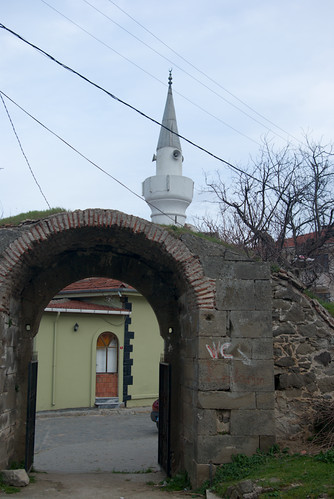 Riva castle and Riva village mosque,  blacksea region of Istanbul, pentax k10d