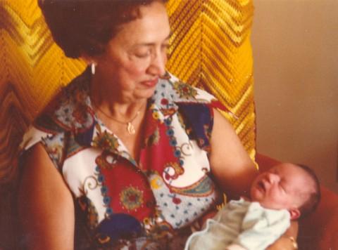 grandma and me.