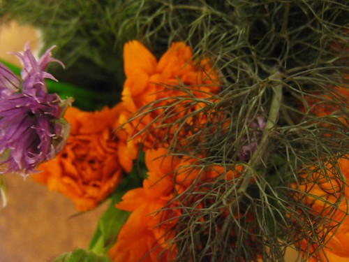 calendula, chive and fennel