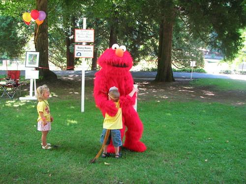 Hugging Elmo
