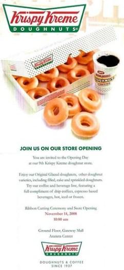 Krispy Kreme Gateway Mall Opening