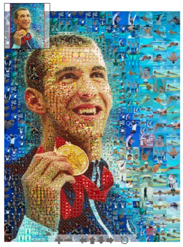 Huge Michael Phelps poster mosaic by robbmonty.