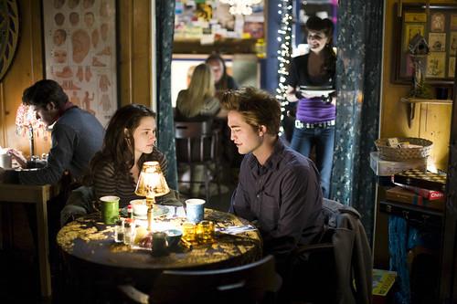 The Twilight movie - Edward and Bella at the restaurant by Billie Joe's Entourage.