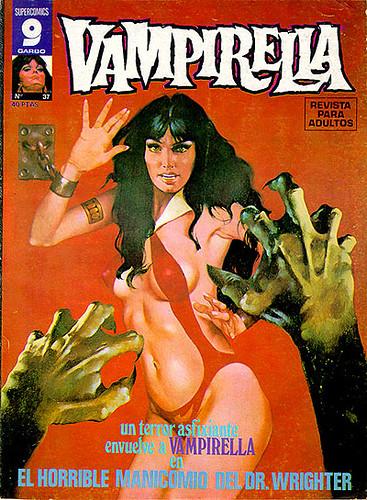 Otro ejemplar del Vampirella de Supercómics Garbo, con algo de suerte aún se puede en Venezuela conseguir estas revistas a buen precio, yo he logrado comprar a buhoneros incluso algunas Vampi de la Warren